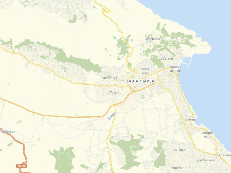 Postal Code Of Xabia Javea In Alicante
