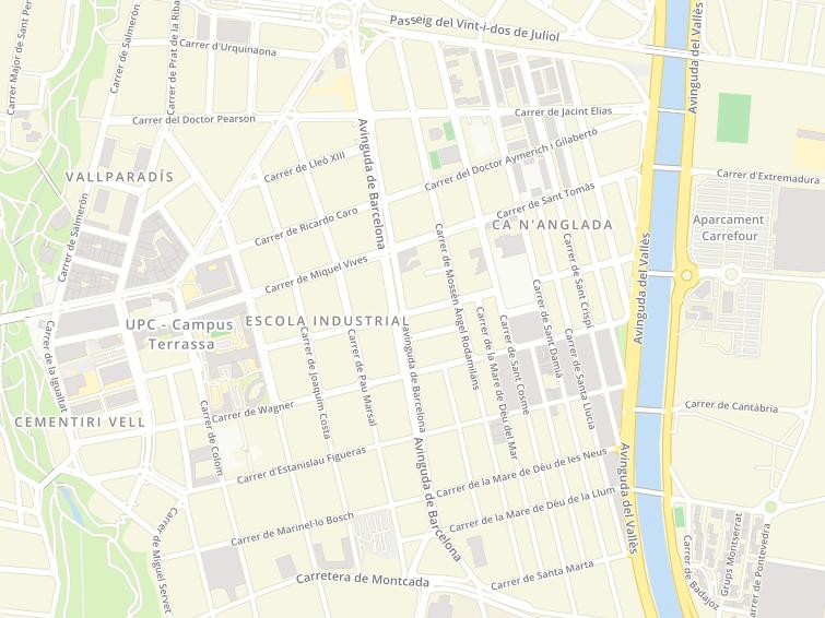 Postal Codes Of Avinguda Barcelona In Terrassa