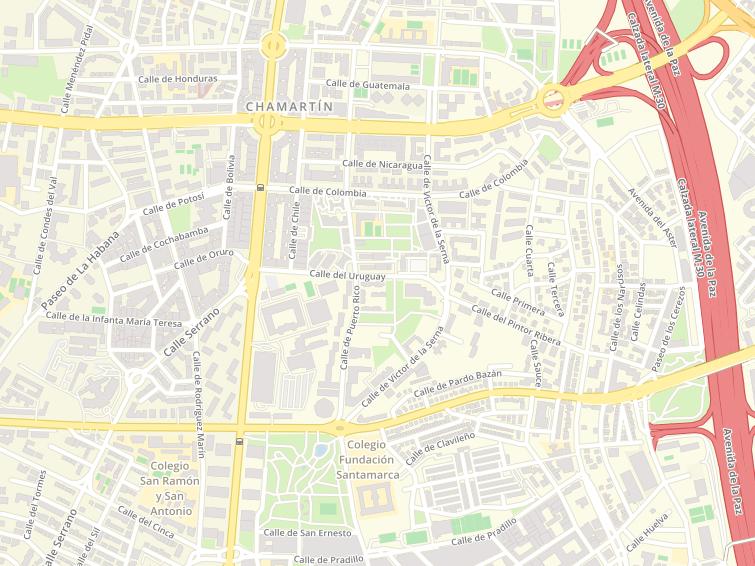 Postal Codes Of Avenida Alfonso Xiii In Madrid
