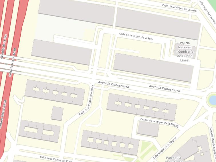 Postal Codes Of Avenida Donostiarra In Madrid