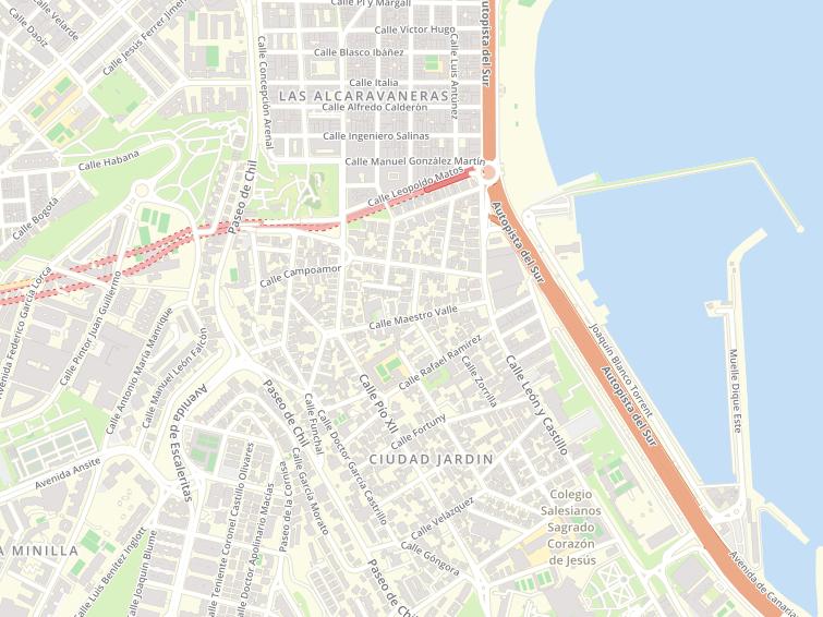 Mapa De Las Palmas De Gran Canaria Calles.Codigos Postales De Pio Xii En Las Palmas De Gran Canaria