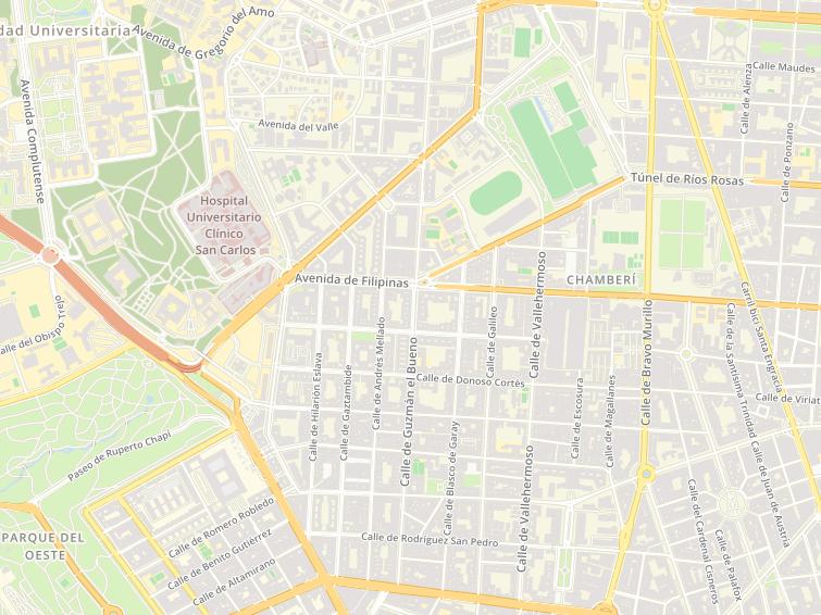 Mapa Comunidad De Madrid Por Codigos Postales.Codigos Postales De Guzman El Bueno En Madrid