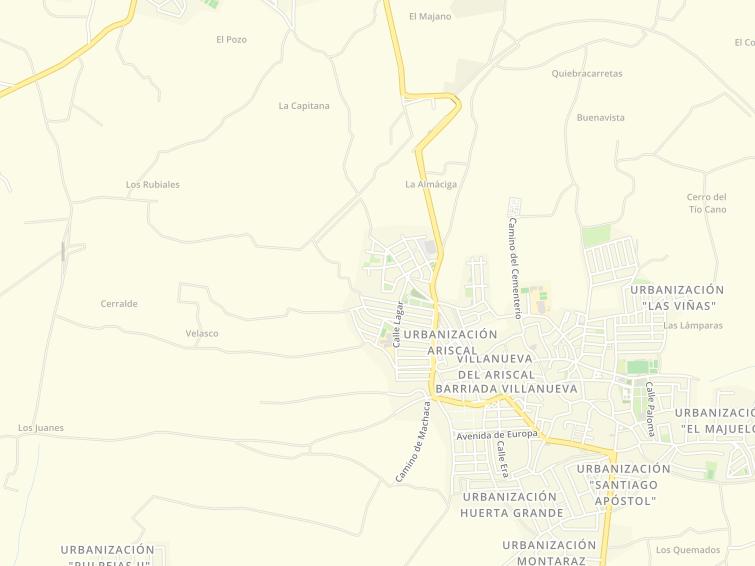 Villanueva Del Ariscal Mapa.Codigo Postal De Villanueva Del Ariscal En Sevilla